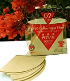#5: Hario Unbleached V60 Coffee Paper Filter - Size 02