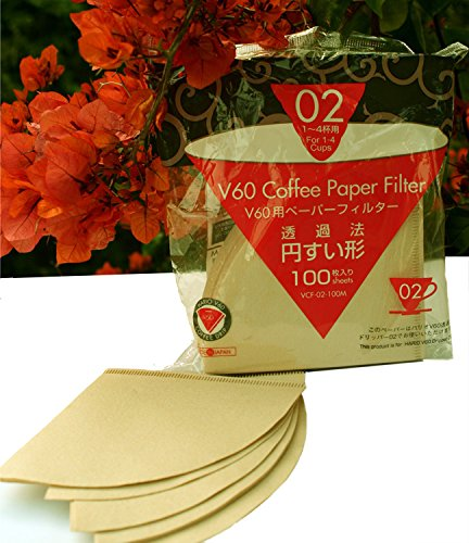 Hario Unbleached V60 Coffee Paper Filter - Size 02