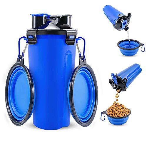 Youyababay 2 in 1 Wasserflasche für Hunde und Tragbare Schüssel 350ml Wasserspender Fashion - 2 Unzen-flasche Gel