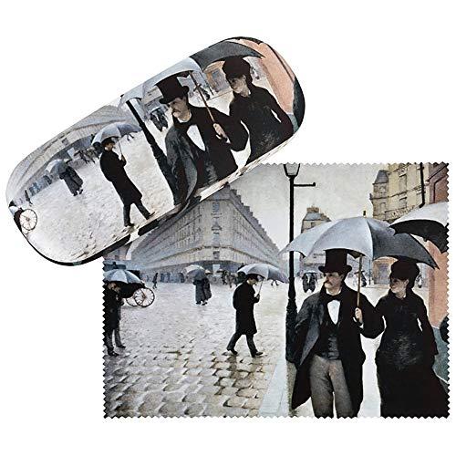 VON LILIENFELD Brillenetui Hardcase Box Stabil Kunst Motiv Gustave Caillebotte: Paris im Regen