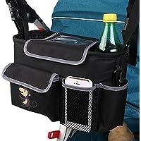 Sac Pochette de Rangement pour Poussette, Viflykoo Sac Organisateur pour Landau Poussette Stroller Storage Bags