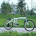 Urcar Klappfahrrad Leichtes Fahrrad für Erwachsene 6-Gang-Antriebsstrang Kotflügel vorne und hinten,Ideal für Stadtfahrten und Pendler, 20-Zoll-Räder
