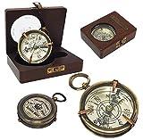 The New Antique Store Messing Magnetverschluss Kompass–Mull of Galloway–Schottland