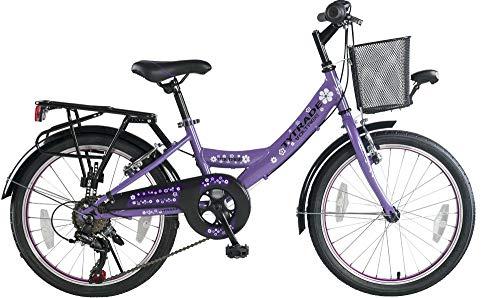 20 Zoll Kinder City Fahrrad Kinderfahrrad Cityfahrrad Bike Rad Mädchenfahrrad Mädchenrad Bike 7 Shimano Gang Voltage Lady LILA TYT19-042