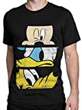 Disney Herren Mickey Mouse Donald Duck Pluto T-Shirt Large