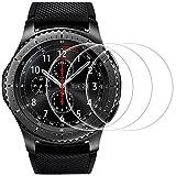 Pellicola Protettiva per Samsung Gear S3 Frontier / Classic, AFUNTA 3 Pack[Antigraffi] [Senza Bolle] Pellicola Vetro Temperato Screen Protector Proteggi Schermo per Smartwatch
