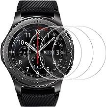 Protectores de Pantalla para Samsung Gear S3 Frontier/ Classic, AFUNTA 3 Paquetes Vidrio Templado Película Anti - arañazos Escudo de Alta Definición para Smartwatch