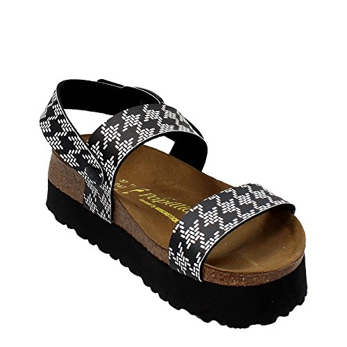 Cameron 521263 Platform (Narrow Fit) - Knotted Black KNOTTED BLACK