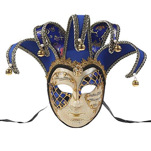Zhhlaixing Venezianische Masquerade Ball Maske Lustige Paarmaske Frauen Weinlese Griechische Römische Karneval Party Maske Party Kostümzubehör Geburtstagsmodenschauen Halloween Weihnachten Karneval