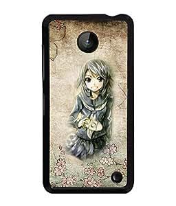 Printvisa 2D Printed Girly Designer back case cover for Nokia Lumia 630- D4571