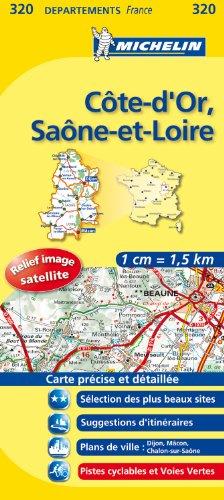 COTE - D ' OR / SAONE - ET - LOIRE 11320 CARTE ' LOCAL ' ( France ) MICHELIN KAART (KAARTEN/CARTES MICHELIN)
