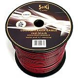 Cavo per altoparlante 2X 2,5mm²-Rosso/Nero-Bobina da 100m-Cavo RCA-audio-Box cavo