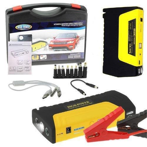 FLM Avviatore Power Bank Portatile Giallo di Emergenza Auto Batteria Booster Start
