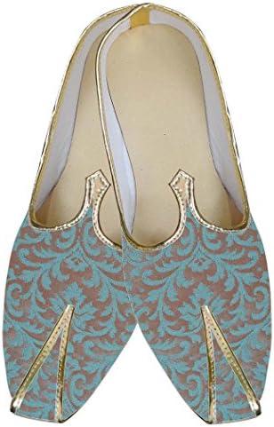 INMONARCH Dos Tonos de Verde Azulado Hombres Zapatos de Boda MJ0074