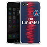DeinDesign Coque en Silicone Compatible avec Apple iPhone 8 Étui Silicone Coque Souple Paris Saint-Germain Produit sous Licence Officielle Maillot PSG