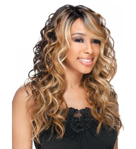 Freetress Equal Synthetic Lace Front Deep Invisible Part Wig - Bently-OP30/240 by Freetress