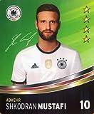 Rewe DFB Sammelkarten EM 2016 Auswahl aus allen 36 und Sammelalbum oder alles komplett (Nr 10 Shkodran Mustafi)