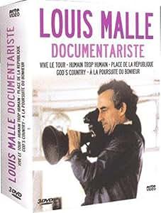 Coffret Louis Malle 3 DVD : Vive le tour (1962) / Humain trop humain (1973) / Place de la République (1974) / God's country (1986) / And the pursuit of the happiness (1987)