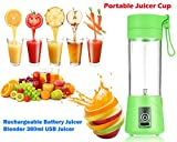 #9: DeoDap Multi-Purpose Portable USB Electric Juicer, Protein Shaker, Blender Mixer Cup Perfect for Mixing and shaking Juices, Cocktails, Coffees, Teas, Protein Shakes,Tornado Transparent Multi function Shaker Water Bottle for Multiple Use | Portable Blender Bottle Juicer |