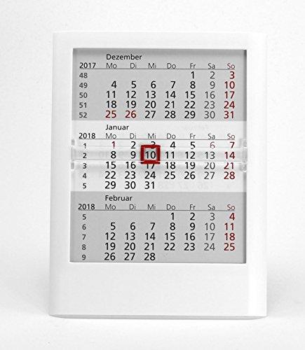 HiCuCo 3-Monats-Tischkalender für 3 Jahre (2019, 2020 und 2021) - Aufstellkalender - weiß - TypW1