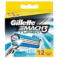 Gillette Mach3 Turbo Yedek Tıraş Bıçağı, 12'Li