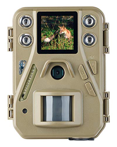 VisorTech Nachtkamera: HD-Mini-Wildkamera mit Farbdisplay & Infrarot-Nachtsicht, 12 MP, IP66 (Wildcameras)