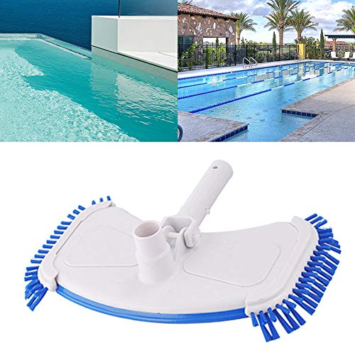 ZHONGLI Swimming Pool Curved Vacuum Cleaner - Suction Head Bath Shower Cleaning Brush (Microfiber) Pool Supply for Concrete or Plaster Pool Cleaning -
