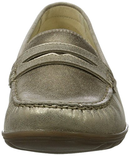 Waldläufer Hesima, Mocassins Femme Gold (lightgold)