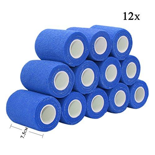4er Paket 10cm x 4,5m latexfrei Herolio selbsthaftende Bandagen elastisch