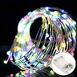 Salcar Stringa Luci LED a Batteria, Catena Luminosa 10m 100 LED con Filo Rame Ghirlanda Luminosa Lucine LED Decorative RGB