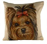 Best Yorkie Beds - Waggy Dogz Yorkie Dog Filled Cushion 43cm x Review