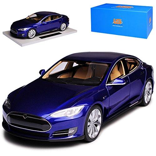 LS Collectibles Tesla Model S Blau Ab 2012 limitiert 1 von 250 Stück 1/18 Modell Auto
