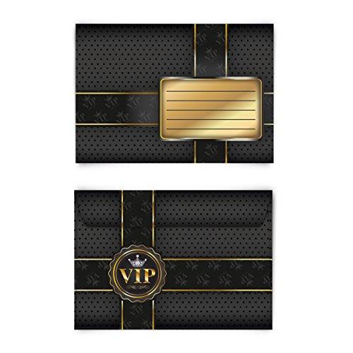 Briefumschläge (20 Stück) DIN C6 – VIP Gold
