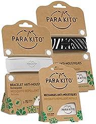 Parakito - MÜCKESNCHUTZ - KIT 2 x Para'kito NACHFÜLLBARES BAND (BN) + 1 x 2 NACHFÜLL-PELLETS Para'kito …