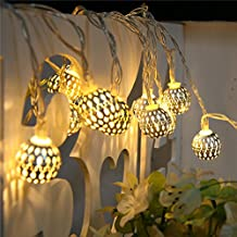 SHHE Solar Fairy Lights String Lights 5M 30 LED 2 Modes Outdoor Maroq Globe String Lighting for Garden Patio Party Christmas Decoration(Warm White)