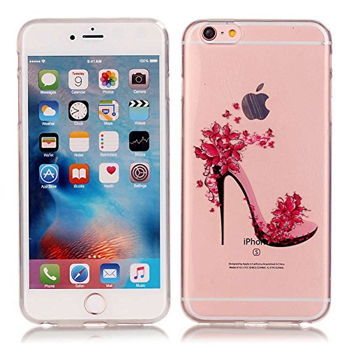 "iPhone 6S Plus /6 Plus Coque, LANDEE TPU silicone Coque pour iPhone 6S Plus / iPhone 6 Plus (5.5"") Housse Etui anti chocs Back Cover Bumper Case (6SP-T-0212) 6SP-T-0207"