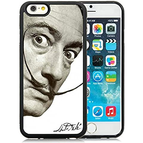 iPhone 6 4.7 inch dali mustache Black TPU Screen Phone Case Unique and Fashion Look