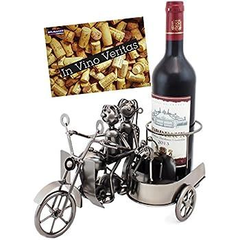 brubaker porte bouteille de vin moto side car m tal. Black Bedroom Furniture Sets. Home Design Ideas