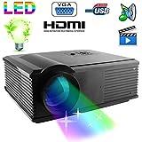 Vidéoprojecteur LED 95W 2800 Lumens Full HD 1080P Home cinema Noir