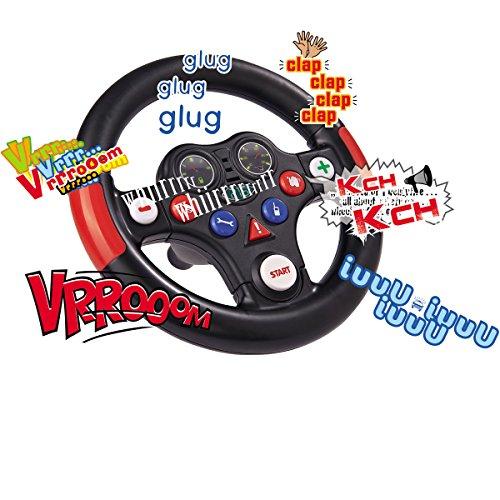 #11 Spezial Soundlenkrad für Bobby Car mit acht verschiedenen Tasten und Sounds Lenkrad Rutschauto Zubehör Rutscher Lenker Bobbycar