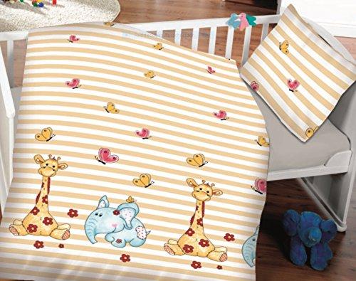 7dreams ® Niños bebé Ropa de cama algodón 100x 135cm almohada de...