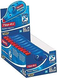 Tipp-Ex Pocket Mouse Correctieroller, Met Beschermkap, 10 Stuks, Wit