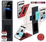 reboon Hülle für HomTom HT3 Tasche Cover Case Bumper | Rot Leder | Testsieger