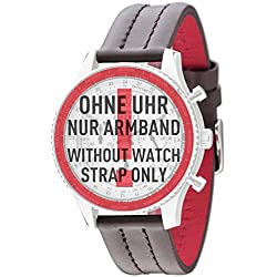 Detomaso Firenze 20mm Watch Bracelet Brown Leather Stainless Steel Buckle New