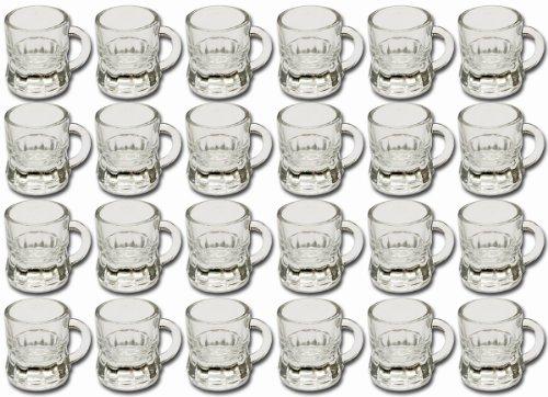 24 x Party Schnapsgläser Schnapskrüge Stamper Glas Trinkgläser Schnapsglas Humpen