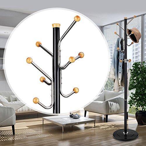 SKC Lighting-Porte-manteau Porte-manteaux en alliage d'aluminium racks de vêtements simples cintres simples étagères étagères salon de la chambre assemblage créatif (Couleur : Noir)