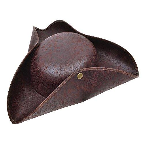 8Dreispitz Mütze Braun antiken Look, eine Größe (Mantel-und-degen-hut)