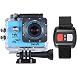 """Andoer Blue, Russian Federation: RU Stock 4K Camera 2"""" LCD Screen Wifi Action Camera 16MP 4X Zoom Sports Camera 170 Wide-angle Waterproof 30M With Remote Control"""