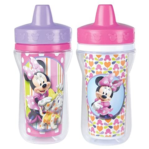 The First Years 2 Pack 9 Ounce Insulated Sippy Cup, Minnie Mouse Color: Minnie Mouse Nourrisson, bébé, enfant