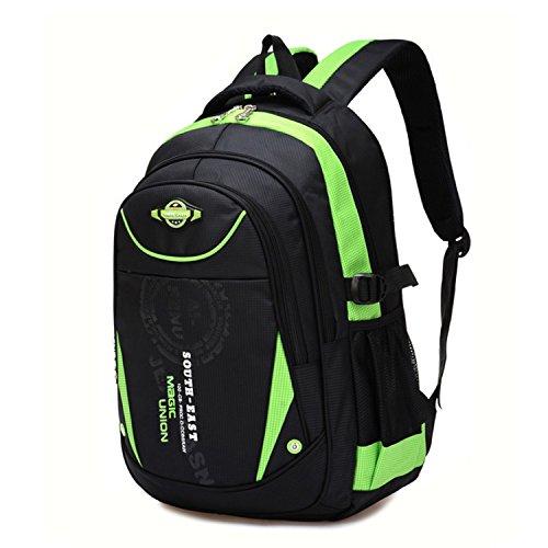 Action Club Schulrucksack Schulranzen Schultasche Rucksack Freizeitrucksack Daypacks Backpack für Mädchen Jungen Damen Herren Jugendliche Grün